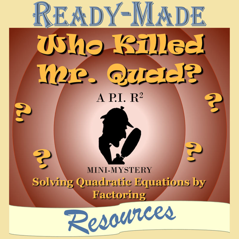 Solving Quadratic Equations By Factoring (A=1) Mystery Activity (Scavenger  Hunt) – Ready-Made Resources